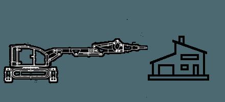 Демонтаж бетона, конструкций, объектов c помощью робота