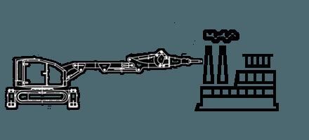 Демонтаж на цементных и металлургических заводах c помощью робота