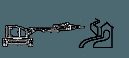 Демонтаж железобетонных конструкций c помощью робота