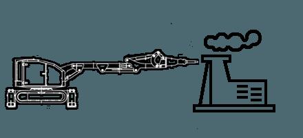 Демонтажные работы c помощью робота