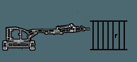 Снятие стяжки Демонтаж фундамента c помощью робота