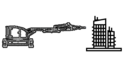 Снос зданий, сооружений c помощью робота