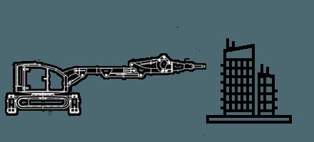Демонтажные работы при помощью робота